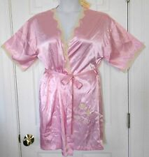 NWT PINK CANDY SEQUINED appliques LACEY SECRET TREASURES S 4/6 silky robes