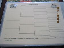 Yorkie Blank Pedigree Sheets Pack 10