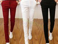 Mens Casual Slim Fit Korean Pants Knight Cotton Skinny Pencil Long Trousers Hot
