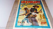 LES 2 VIOLENTS !   affiche cinema western 1964