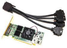 128mb Matrox tarjeta gráfica PCIe x16 qid-e128lpaf kx-20 incl. Cable Adaptador
