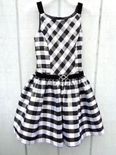 NEW Jona Michelle Plaid Black Gray Silver Dress Girls Party Wedding Birthday 5T