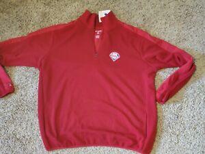 NEW NWT Phillies Men's 2XL XXL Quarter Zip Sweatshirt $75 Embroidered
