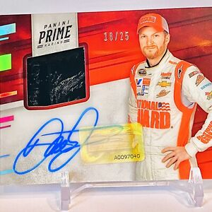 DALE EARNHARDT JR. SP GOLD HOLO PRIME MATERIALS AUTOGRAPH /25🔥SICK PATCH