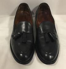Brooks Brother's Black Leather Tassel Men's Slip On Dress Shoes Size 10 D