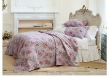 Simply Shabby Chic Purple Berry Rose Full Queen Quilt 2 Shams  New