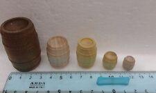5 Botti vino da presepe in legno massello miniature  San Gregorio Armeno