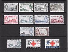 1953 Queen Elizabeth II SG145 to SG154a Short Set Inc.Red Cros Set LMM GIBRALTAR