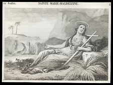 santino incisione 1800* S.MARIA MADDALENA