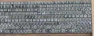 BODONI 5 mm Bleischrift Bleisatz Buchdruck Handsatz Lettern Bleiletter Drucken