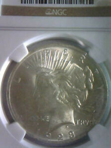 1923 Peace Silver Dollar $1 MS 62 NGC AUTHENTICATED GREAT LUSTER