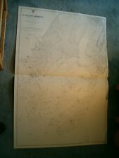 Vintage Admiralty Chart 3278 JERSEY - SAINT HELIER HARBOUR 1914 edn