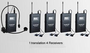 Takstar WTG-500 Tour Guide Teaching UHF Wireless System 1 Transmitter 4 Receiver