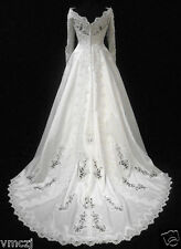 ABITO SPOSA matrimonio cerimonia Gown Evening Wedding  Dresses TAGLIA 42