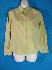 Ann Taylor Size 4 Blouse Career Casual Cotton and Lastol Striped