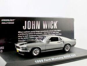 "1969 Ford Mustang Boss 429  grau met. ""John Wick"" / Greenlight Hollywood 1:43"