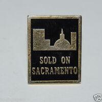 WOW Nice Vintage Sold ON Sacramento California Jacket Lapel Pin Rare