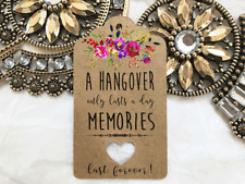 10 Kraft Brown Tags Wedding Favour Engagement Birthday bomboniere Hangover Tags