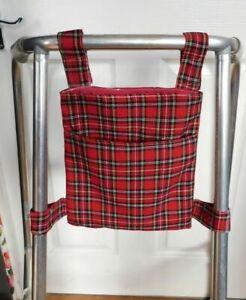 New walking frame bag zimmer frame bag cotton washable Tartan red royal stewart