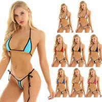 Damen Sexy Mini Bikini Set Zweiteiliger Badeanzug Bademode Schwimmanzug Lingerie