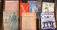 Vintage Military Piano Sheet Music Army Navy Lot Of 9 Victory Songbook