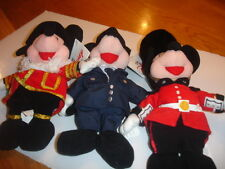 DISNEY'S UK  MICKEY  MOUSE BEAN BAGS X   3 NEW  POLICEMAN, PALACE GUARD, BEEF