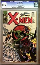 X-Men #21 CGC 8.5 Off-White to White Pages!L@@K!