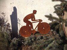 EDELROST Design RADFAHRER Rennfahrer Fahrrad Metall  Gartendeko Rost Rennrad NEU