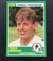 1989 Score #270 TROY AIKMAN ROOKIE Dallas Cowboys Football Card - Nice
