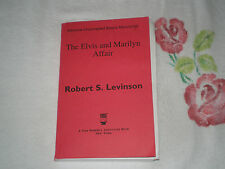 THE ELVIS AND MARILYN AFFAIR by ROBERT S. LEVINSON   *SIGNED*   -ARC-  -JA-