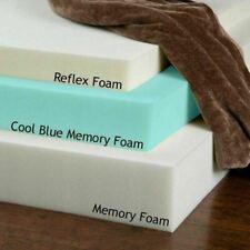 """Memory Foam Toppers - Cool Blue, Memory Foam, Reflex Foam 1"""" - 2"""" - 3 """" 4"""""""