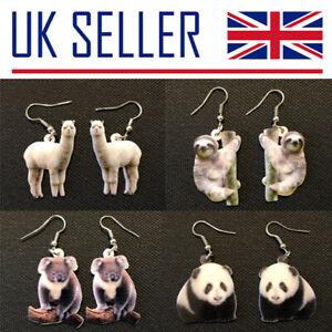 Animal Earrings - Koala, Panda, Giraffe, Alpaca, Turtle, Elephant, Dolphins