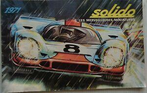 Solido Catalogue The Stupendous Cars 1971 Original