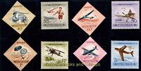 EBS Hungary 1954 - Air Mail - Aviation Day - Aircraft - Michel 1376-1383 MNH**