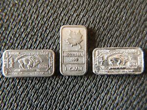 Rare 1 Gram Metal Ingots - Indium, Columbium & Niobium with Protective Capsules
