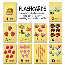 Numbers Flash Cards 1 to 10, Nurseries Schools Kids, Educational Toys Game Cards