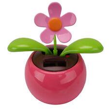 Car Rose-red Cute Flip Flap Swing Solar Flower R2Q3