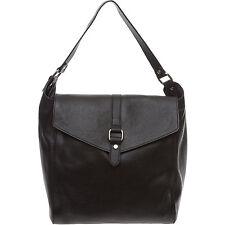 Bellucci Genuine Grained Leather Black Shoulder Bag - New
