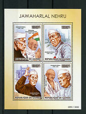Guinea 2015 MNH Jawaharlal Nehru 4v M/S Mohandas Karamchand Mahatma Gandhi