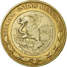 [#774425] Coin, Mexico, 10 Pesos, 1998, Mexico City, VF(30-35), Bi-Metallic