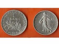Pièces de monnaie françaises de 1 franc 1 francs en argent