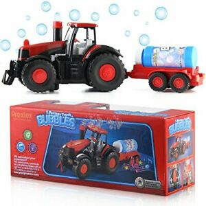 Electronic Farm Vehicle Bubble Making Tractor Toy with Light & Sound Best Gift