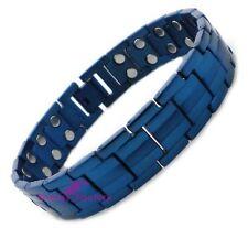 100% Blue TITANIUM Magnetic Bio Energy Health Bracelet Arthritis Pain Relief