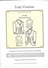 Truly Victorian Sewing Pattern TV428 1880's Jacket bodice top blouse uncut