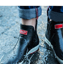 Men's fashion short tube non-slip waterproof fishing rain boots casual shoes