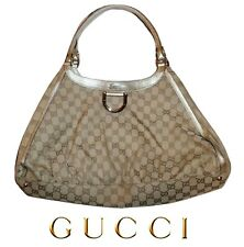 GUCCI ~ Large GG monogram Canvas D ring Hobo Bag  ~ 100% AUTHENTIC