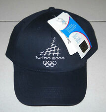 Olimpiadi Torino 2006 CAPPELLO Navy Olympic Winter Gadget Turin NUOVO HAT 1