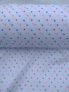 POLKA DOT, PIN SPOT, MULTI COLOURED, Last Piece 0.75m, cotton mix fabric