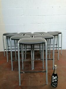 Vintage/Retro Leather Stool Industrial Mid-Century Bar FREE MANCHESTER DELIVERY