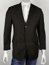 MICKEY SPATZ Italy Dark Brown Fine Woven Virgin Wool 3-Btn Blazer Jacket 40R